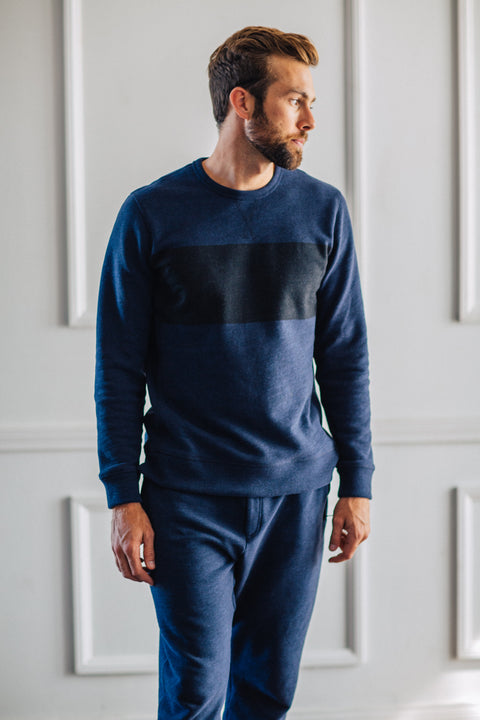 Distressed Crew - Dark Navy