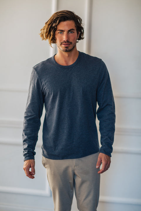Reversible L/S Tee - Charcoal