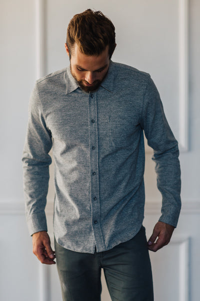 Wilson Button Down - Heather Grey