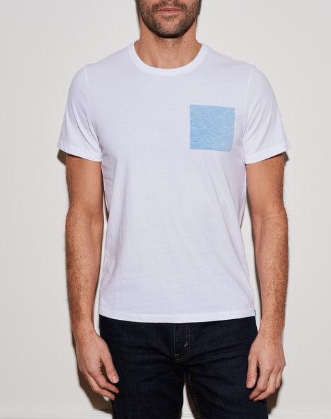 Blue Square T - White