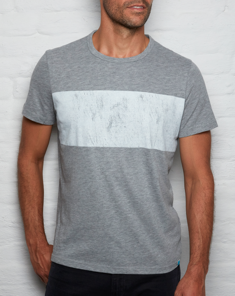Distressed T - Heather Grey