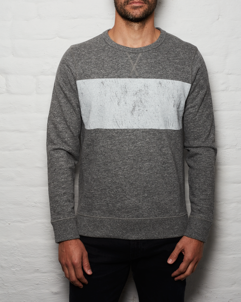 Distressed Crew - Heather Grey