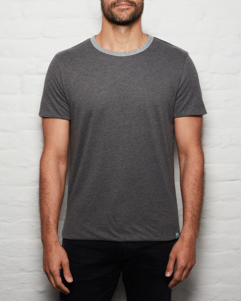 Reversible T - Slate/Heather Grey