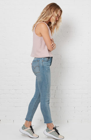 Katie Cropped Tank - Washed Violet
