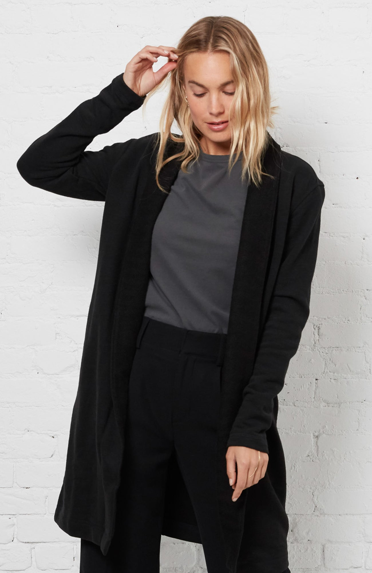 Cardigan Coat - Black