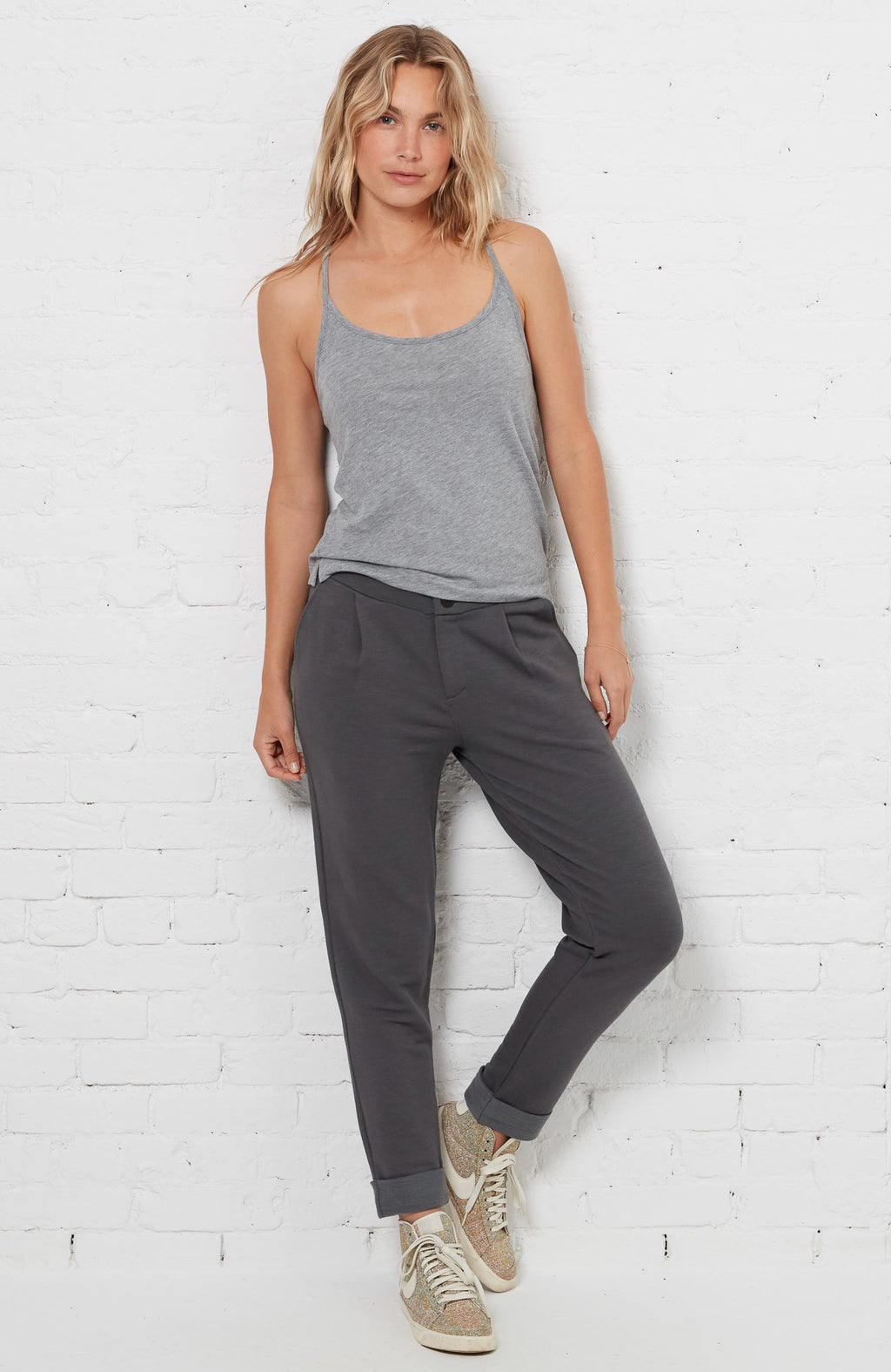 PJ Tank Top - Heather Grey