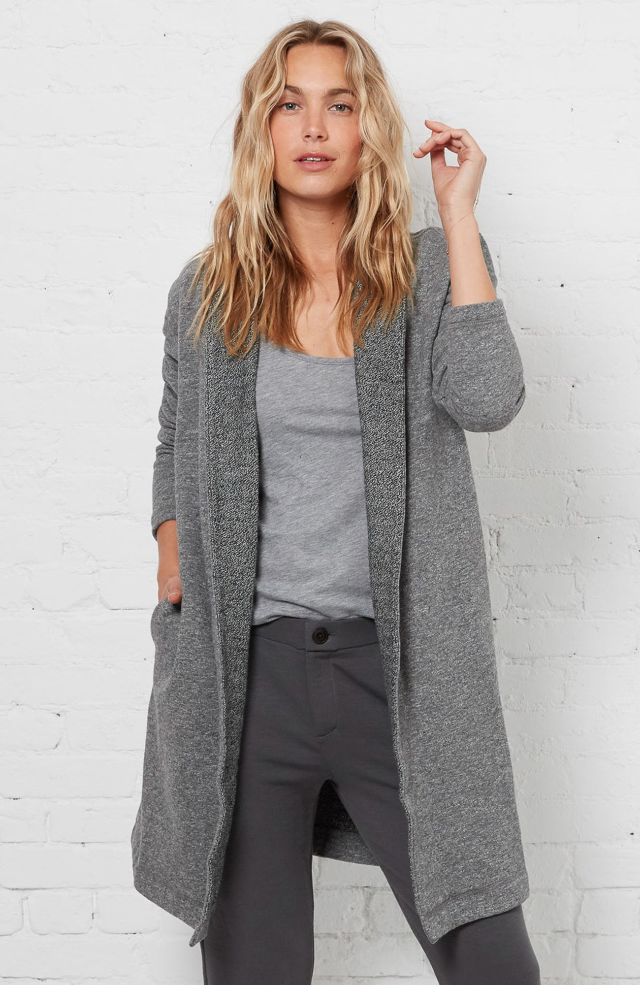 Cardigan Coat - Heather Grey