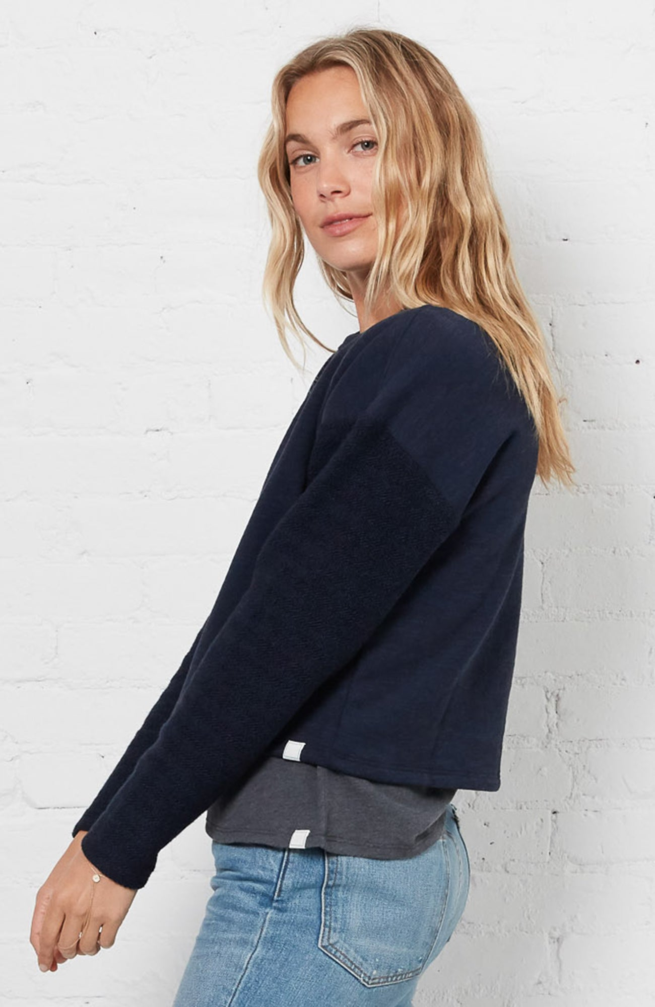 Drop Shoulder Reverse - Navy