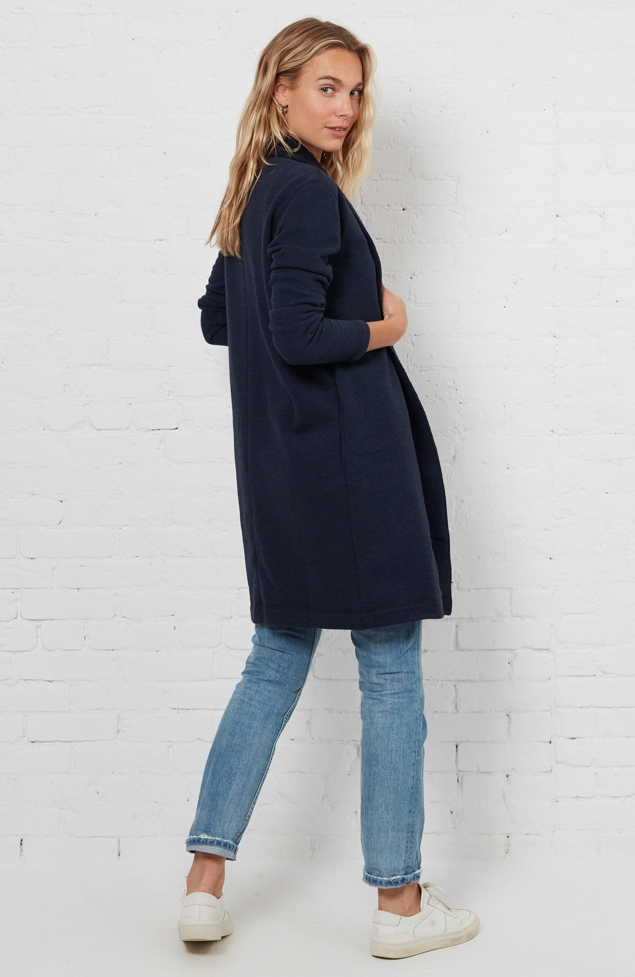 Cardigan Coat - Navy