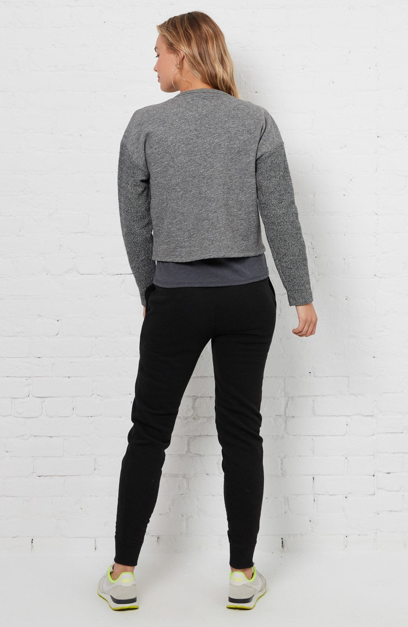 Drop Shoulder Reverse - Heather Grey