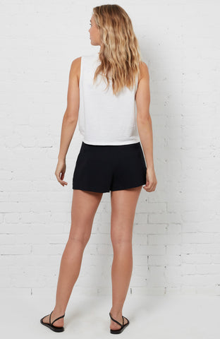 Katie Cropped Tank - Ivory
