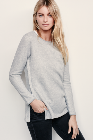 Open Sweatshirt - Heather Grey
