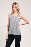 Scooped Neck Tank - Heather Grey