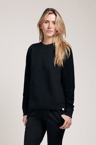 Contrast Sleeve Sweatshirt - Black