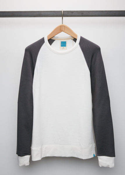 Perry Raglan - White/Slate