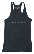 Load image into Gallery viewer, Womens Fit Living Racer Back Tank, Womens Shirt, Fit Living FL, Fit Living Sticker, Salt Life Sticker, Live Fit, Live Fit Sticker, Florida sticker, Florida Local Sticker, Flogrown sticker, Flogrown Decal, FL Protein Bar, GOURMET PROTEIN BARS, The best protein bar, the best protein bar ever, The perfect protein bar, the perfect bar, the Best Bar Ever, Best Protein Bar, Fresh Protein Bar, Fit Living Bar, Orlando Protein Bar, Fit Living, Orlando Fitness, Florida Protein bar, Florida Fitness