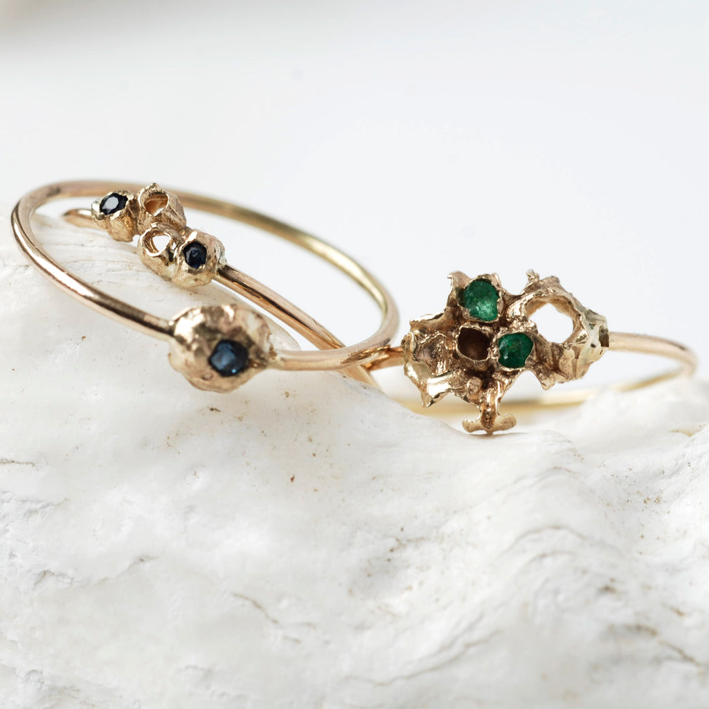 Emeralds + Sapphires: New to The TIA, HILO and DORIS Rings