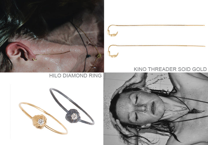 kino, threader, hilo, earrings