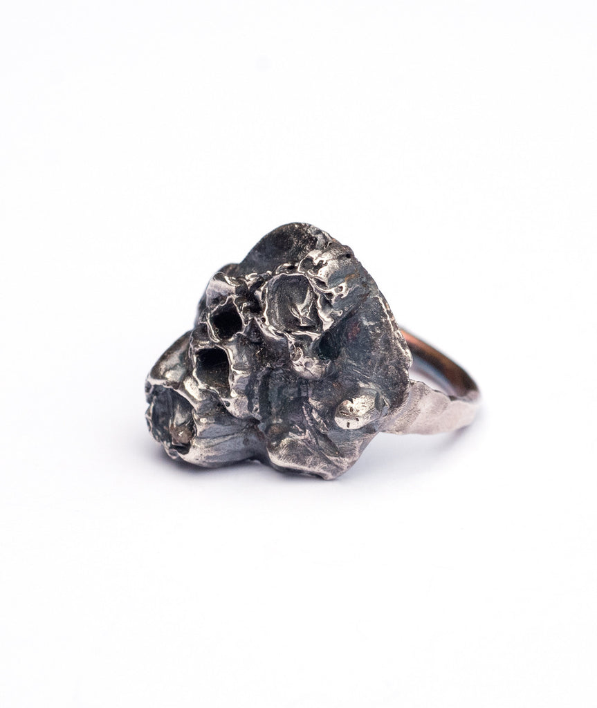 Rustic Boho Sea Goddess Barnacle Ring