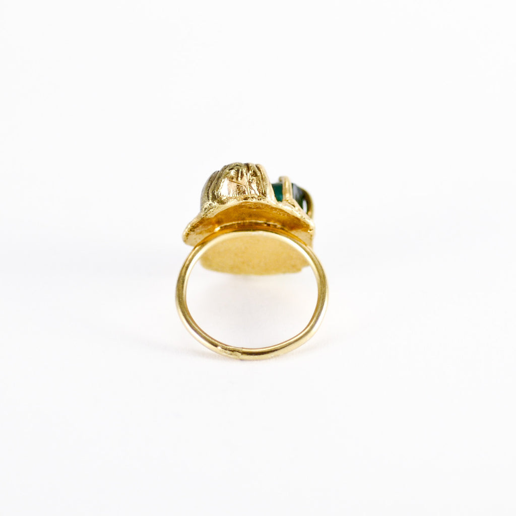 Handcrafted Statement Sea Goddess Barnacle Ring