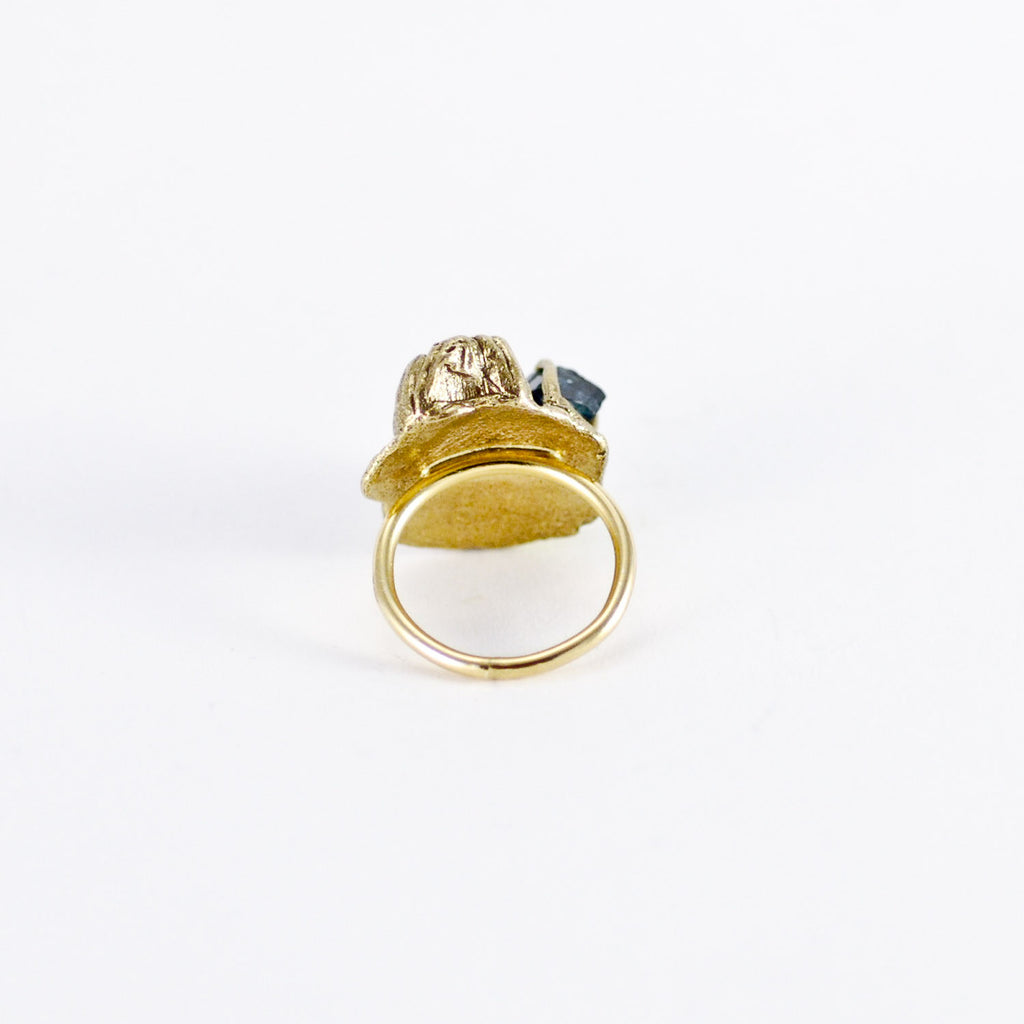 HANDMADE SEA GODDESS TOURMALINE GOLD RING