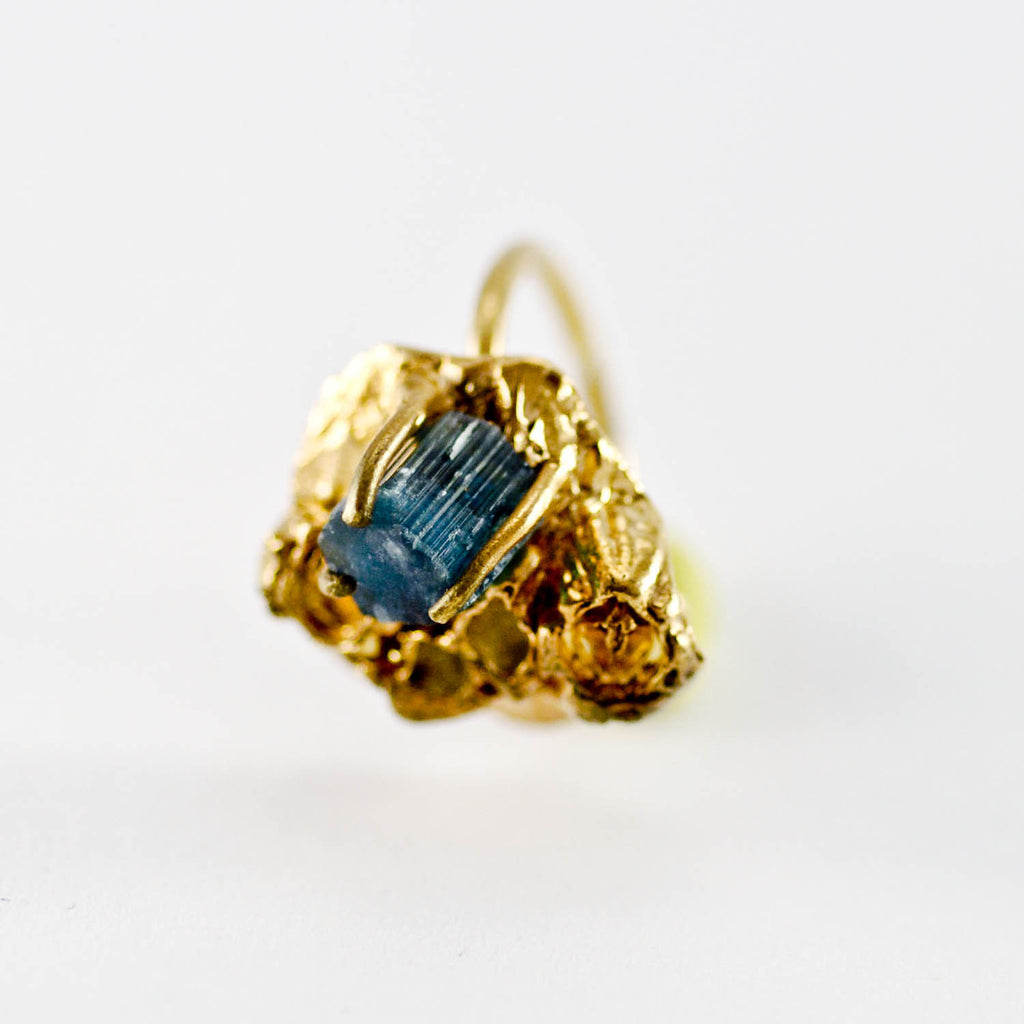 Handcrafted Sea-Inspired Tourmaline Gemstone Ring