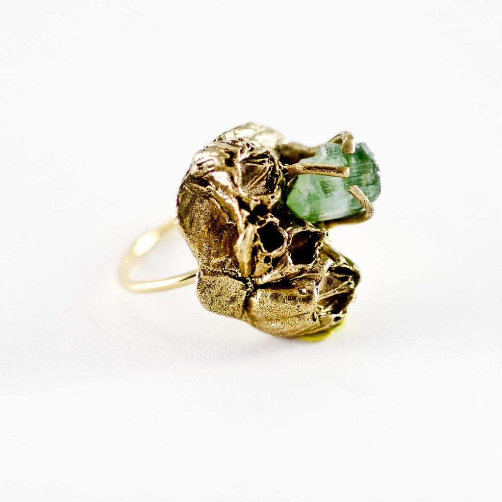Sea Inspired, SEA GODDESS TOURMALINE GOLD RING