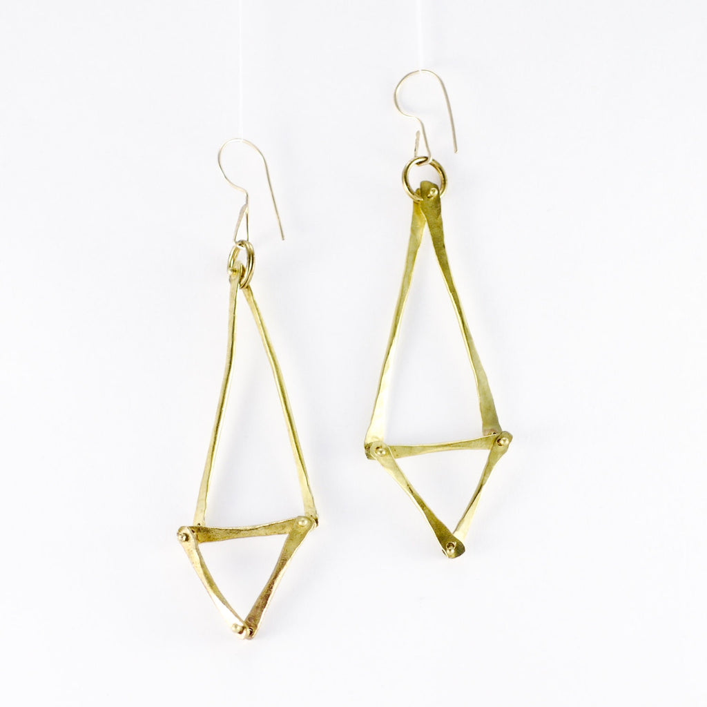 Sea Grass Inspired Fine Forge Earrings
