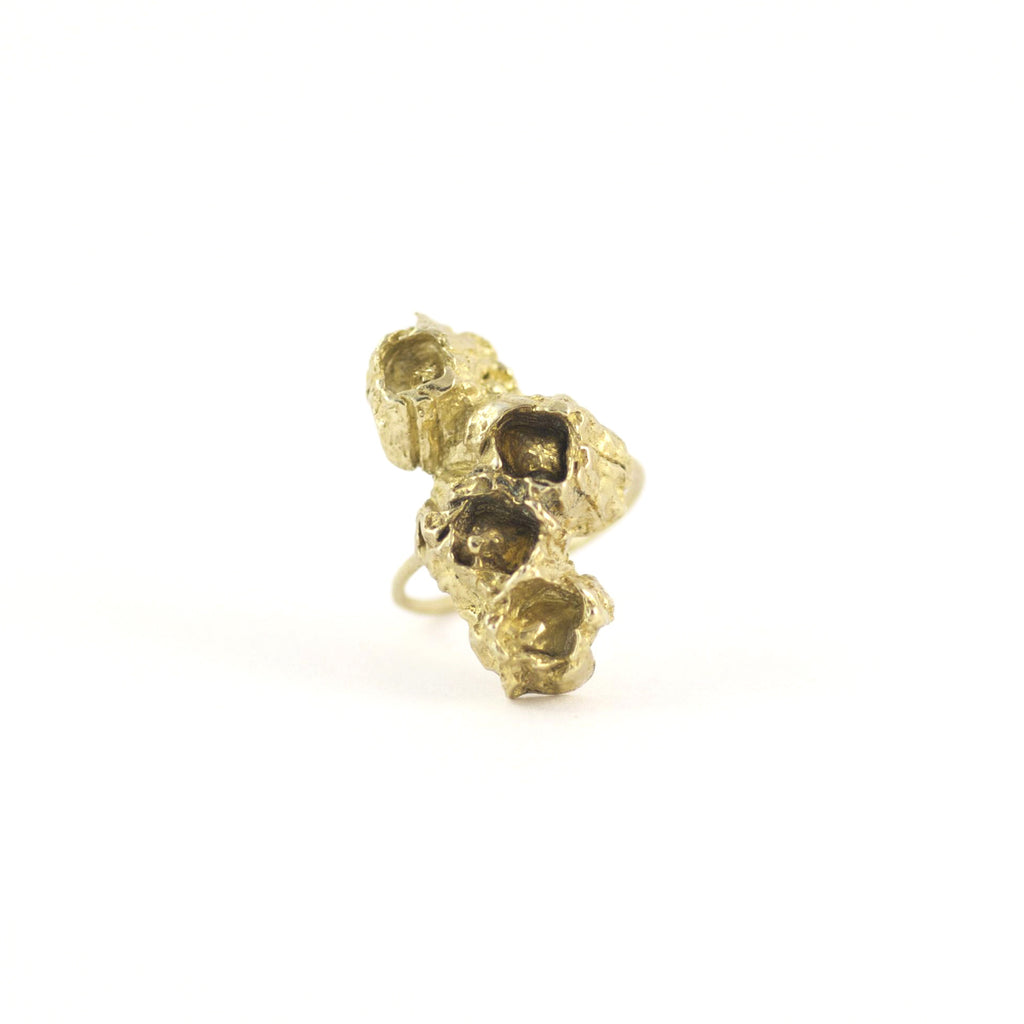 ELEGANT SEA INSPIRED, BARNACLE ROW GOLD RING