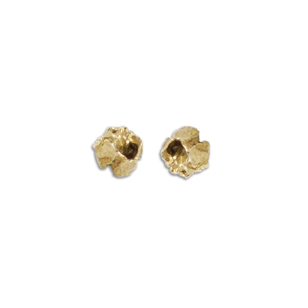 Ocean Inspired, Bebe Barnacle Gold Stud Earrings
