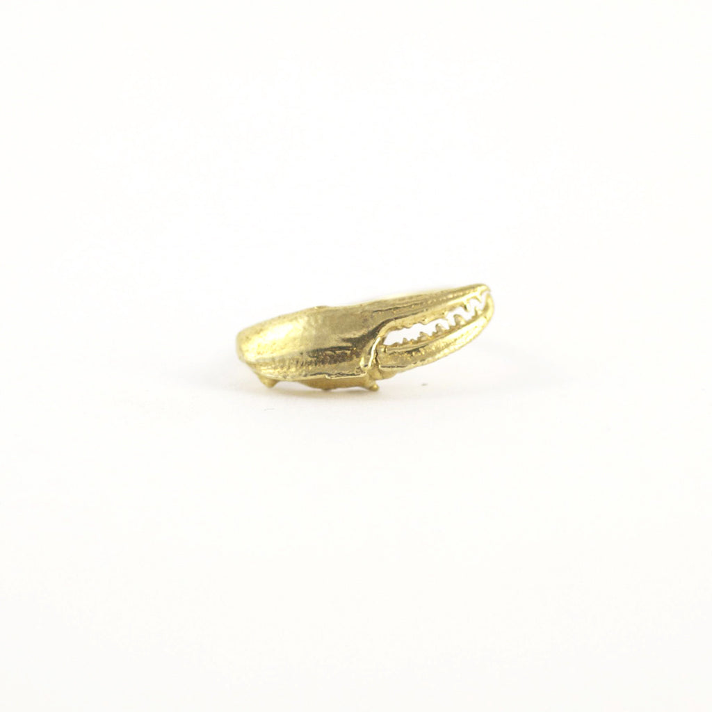 Ocean inspired Claw Curve Gold Ring