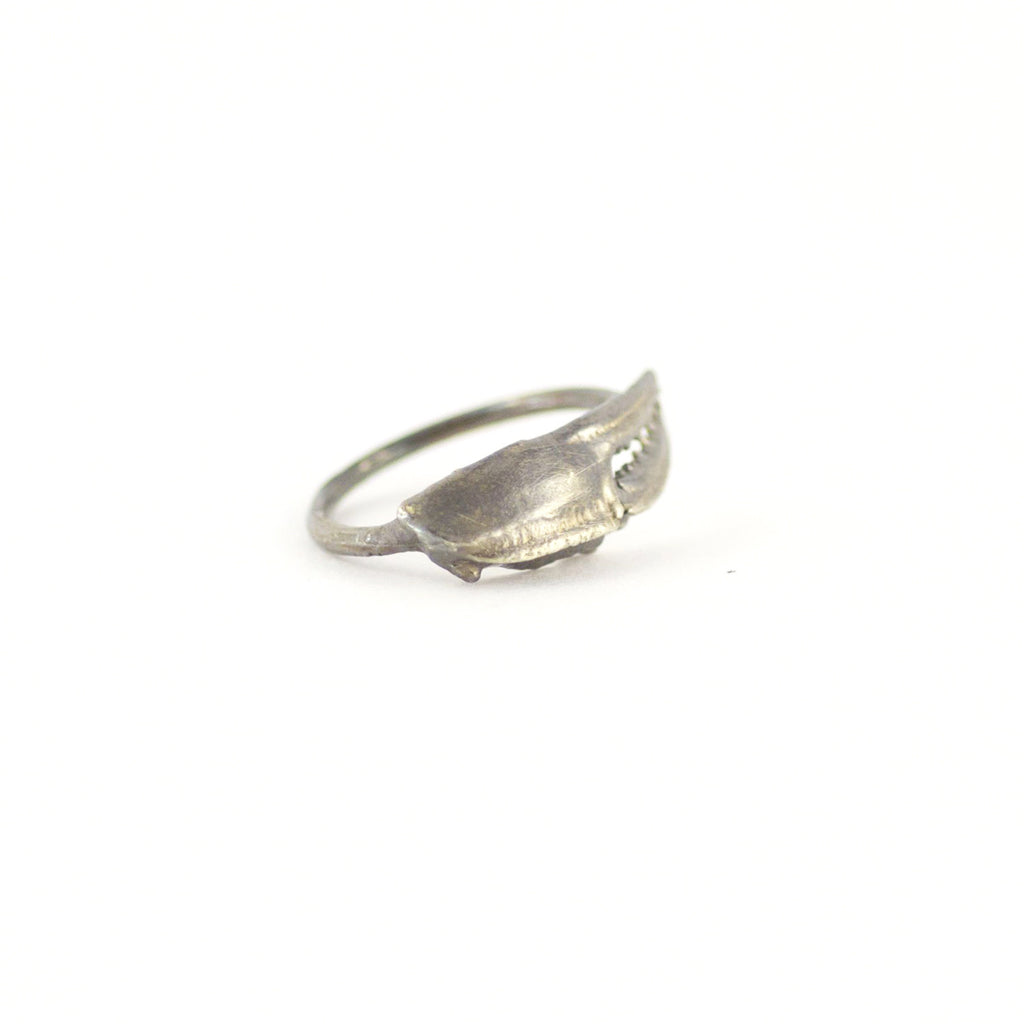 Handmade Ocean Inspired, Claw Curve Silver Ring