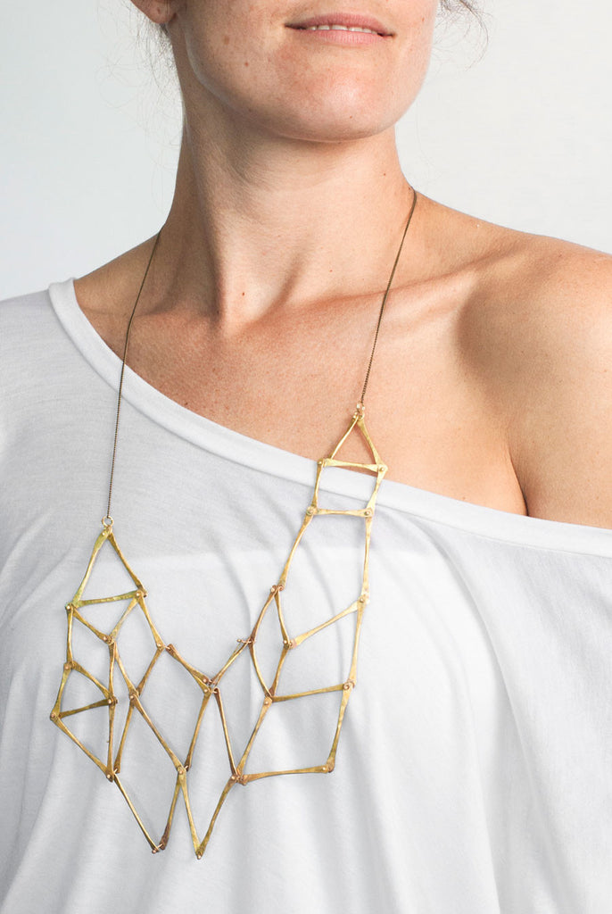 Organic Sea Inspired, Gladiator Asymmetrical Necklace