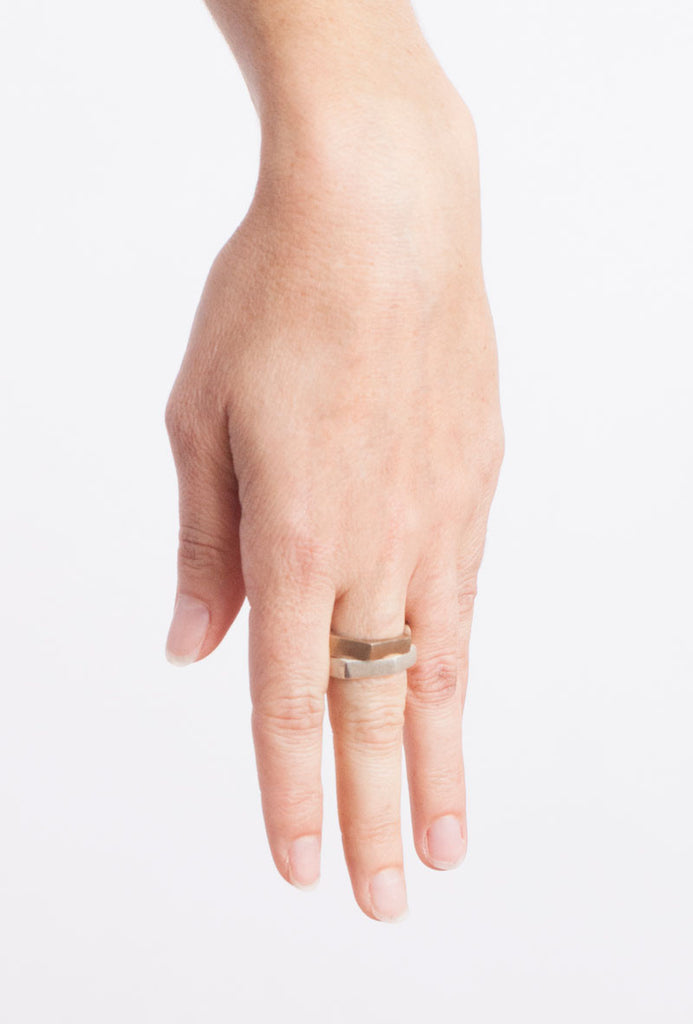 Organic Beach Inspired, Hex Statement Ring