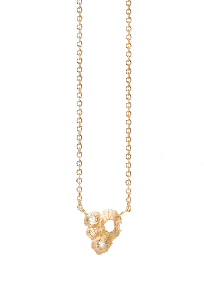 HANDCRAFTED BARNACLES INSPIRED, VELLA COLONY DIAMOND NECKLACE