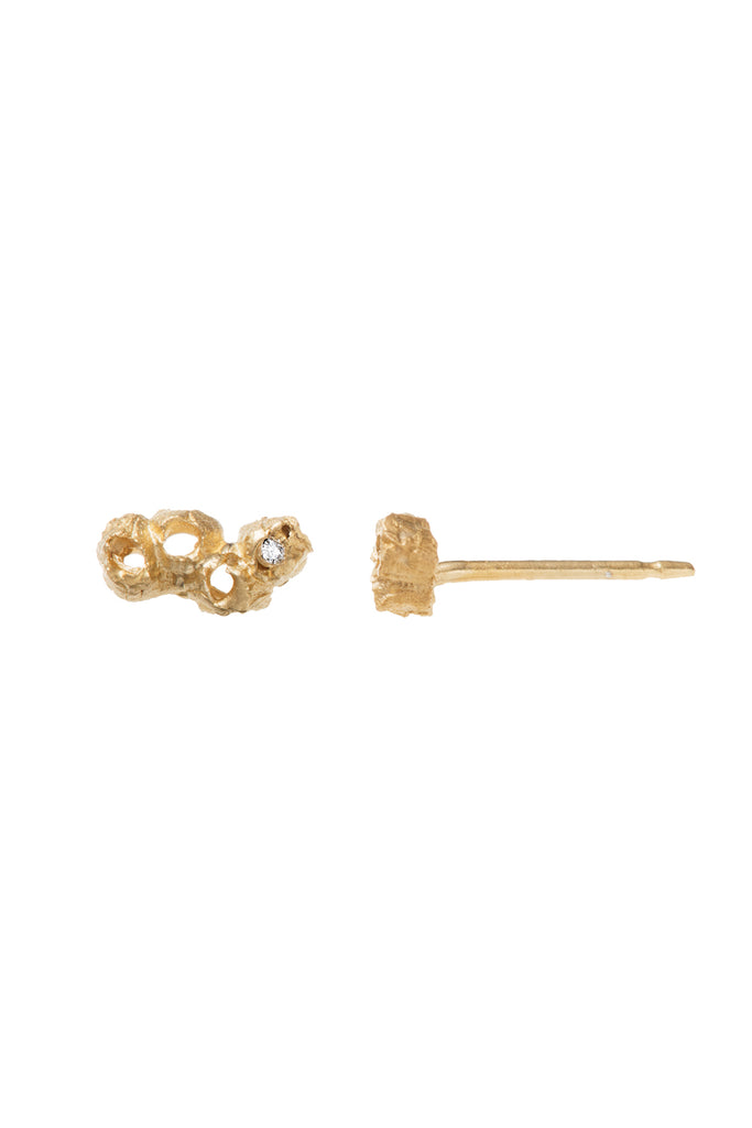 Organic Beach Inspired, Doris Diamond Stud earrings