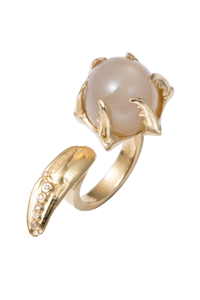 ELECTRA MOONSTONE COCKTAIL RING