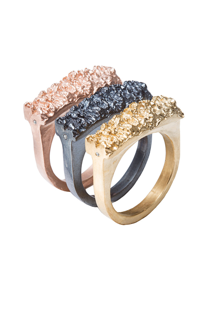 Bold Barnacle Cave Pave Ring Major