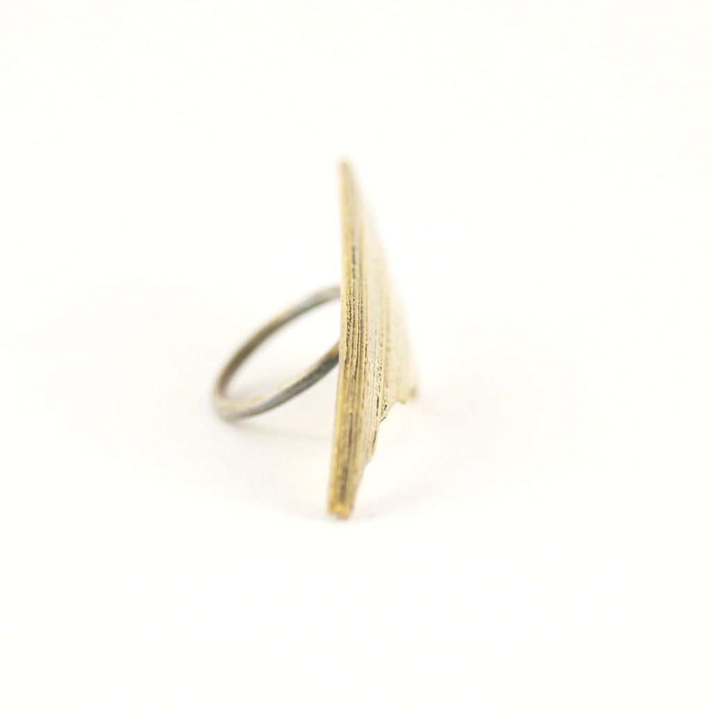 Shard & Shield Bronze Ring
