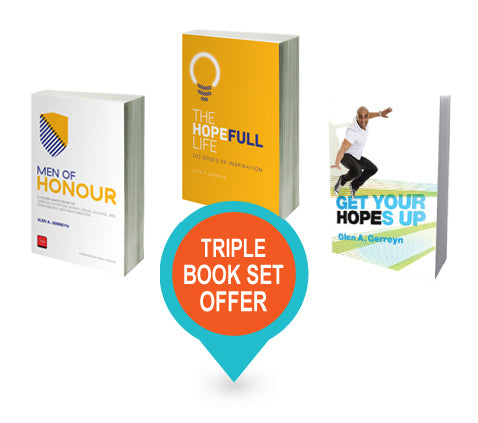 TRIPLE BOOK PACK: Get Your Hopes Up, Men of Honour and The Hopefull Life:102 Doses of Inspiration