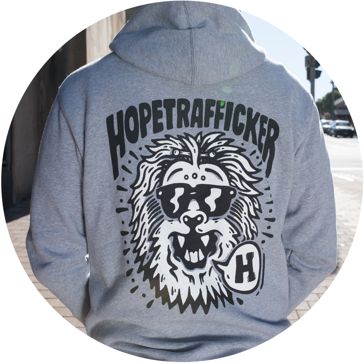 HopeTrafficker - Men's Stencil Hoody