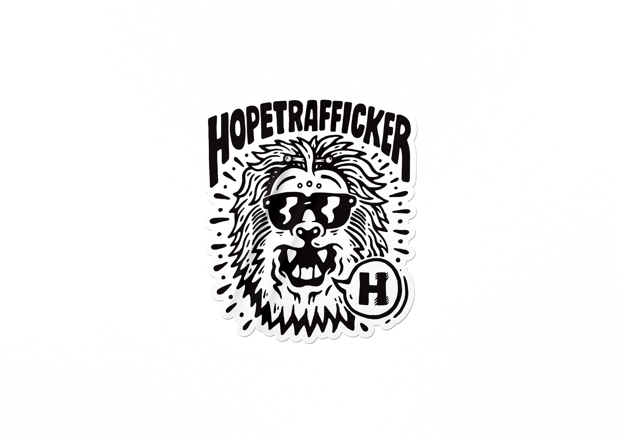 HopeTrafficker - Die cut stickers 65mmx75mm