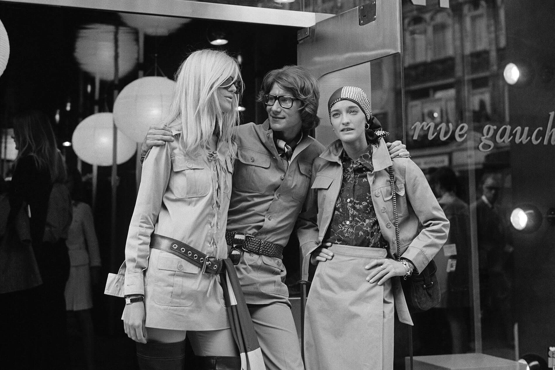 Betty Catroux with Yves St Laurent and Loulou de la Falaise
