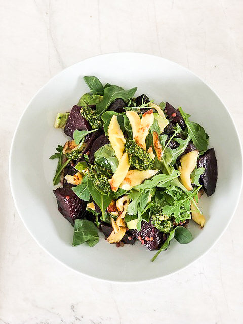 Roast Beetroot & Grilled Haloumi Salad GF, VEGE / Serves 6-8