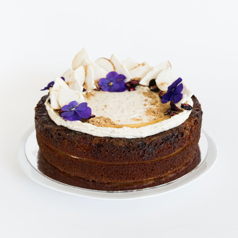 Caramelized Pear, Salted Caramel, Gingernut Buttercream NF