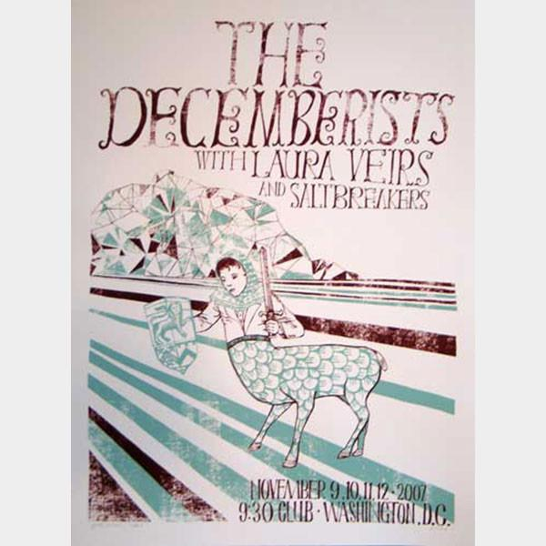 Decemberists Washington DC Limited Show Poster