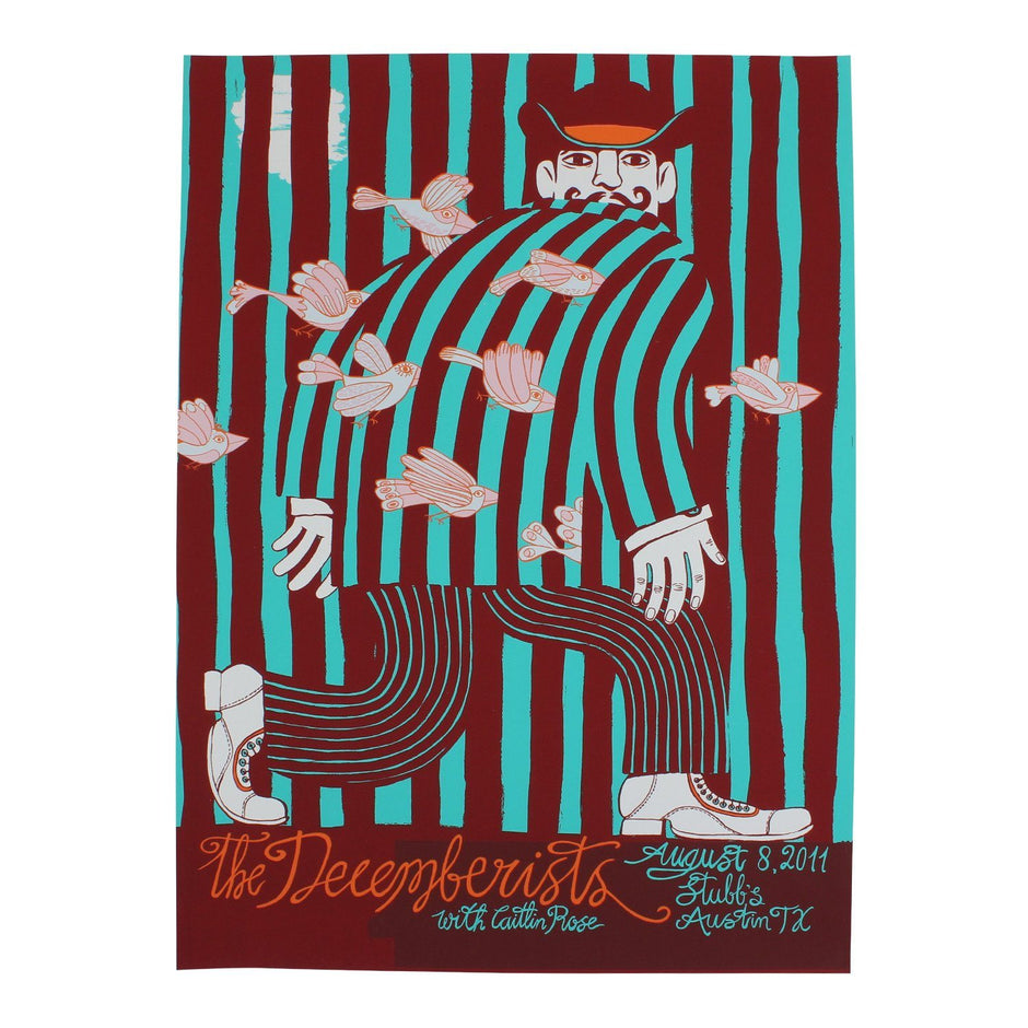 "The Decemberists at Stubbs in Austin, TX Aug 8, 2011 Poster - 18"" x 24"""
