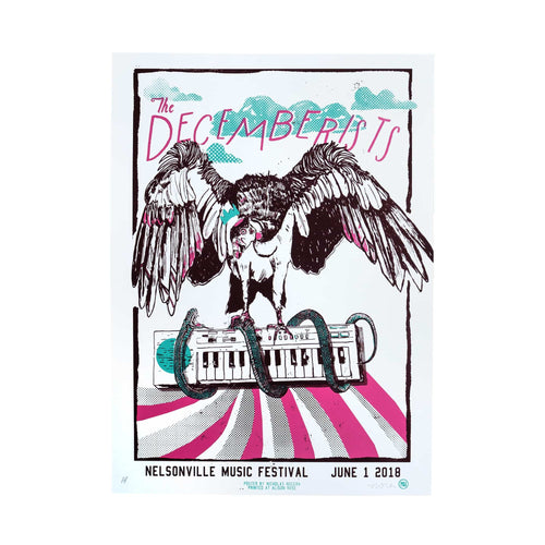 "The Decemberists At Nelsonville Music Festival June 1st 2018 Poster - 16"" x 22"""