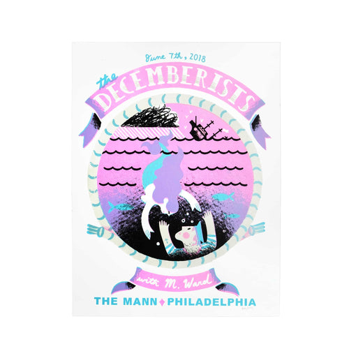 "The Decemberists At The Mann in Philadelphia, PA June 7th 2018 Poster - 19"" x 25"""