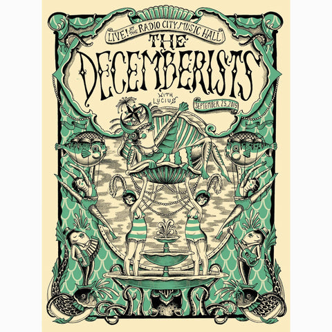 The Decemberists, New York, NY, September 25, 2015 Poster